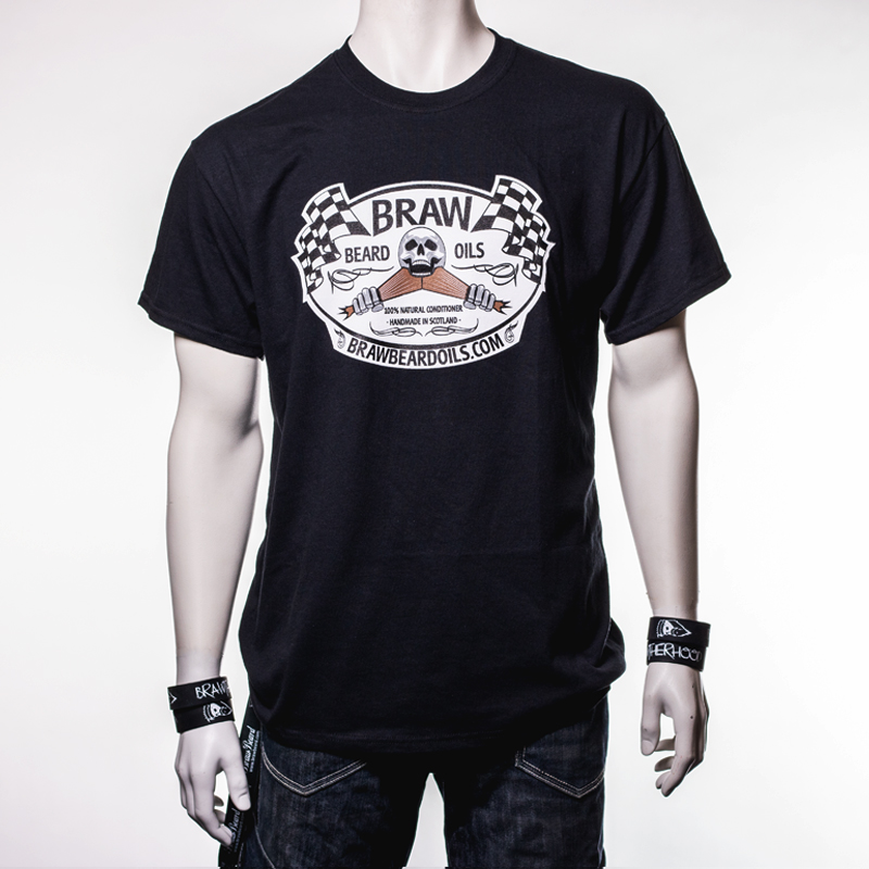 a8d65dd5 Flat Out – T-shirt. Available: In Stock. At Braw Beard Oils ...