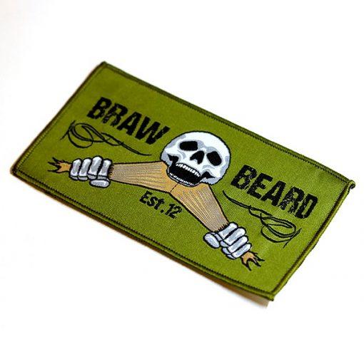 Braw Beard FlatOut Sewn Patch