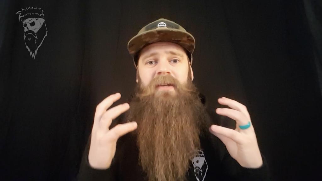 Taming those stray beard hairs.