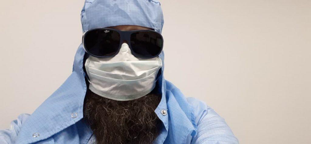 Beard sweaty under the mask? Keep it clean.